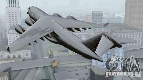 C-17A Globemaster III USAF McGuire для GTA San Andreas вид слева