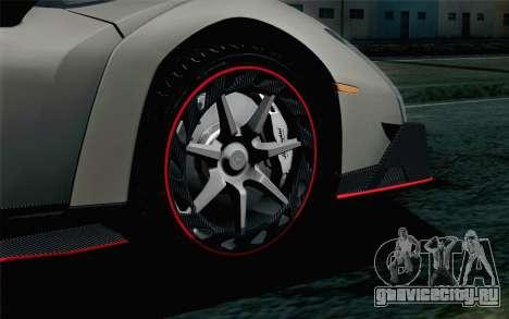 NFS Rivals Lamborghini Veneno для GTA San Andreas вид сзади слева