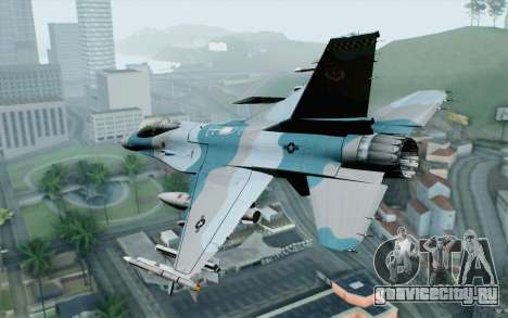 F-16C Fighting Falcon Aggressor BlueGrey для GTA San Andreas вид слева