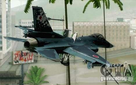 F-2A Viper 60th Anniversary of JASDF для GTA San Andreas вид слева