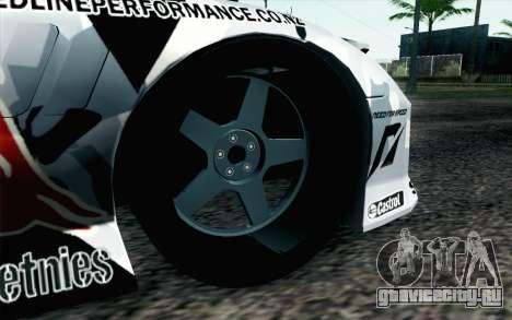 Mazda RX-7 MadMike для GTA San Andreas вид сзади слева