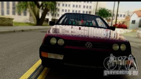 Volkswagen Golf Mk3 для GTA San Andreas вид сзади слева