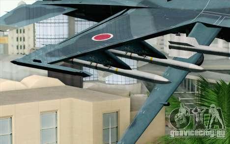 F-2A Viper 60th Anniversary of JASDF для GTA San Andreas вид справа