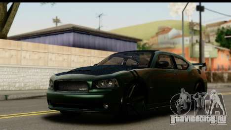 Dodge Charger SRT8 2006 Tuning для GTA San Andreas вид сбоку