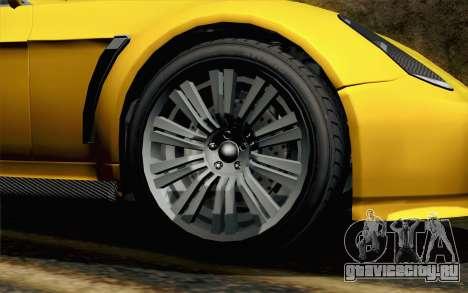 GTA 5 Dewbauchee Exemplar для GTA San Andreas вид сзади слева