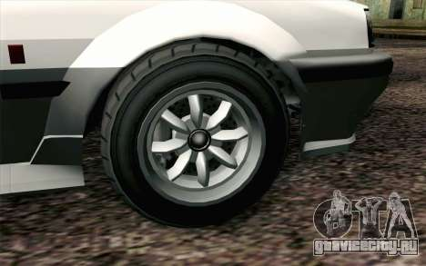GTA 5 Karin Futo IVF для GTA San Andreas вид сзади слева
