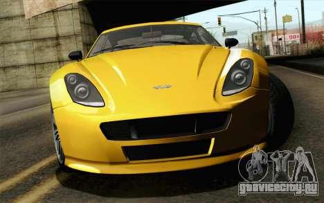 GTA 5 Dewbauchee Exemplar для GTA San Andreas вид сзади