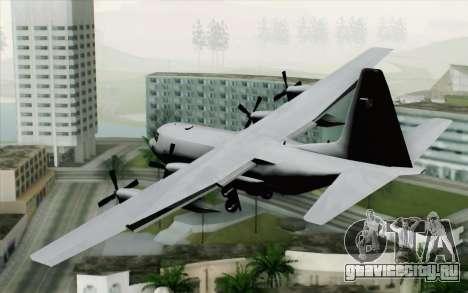 C-130H Hercules Polish Air Force для GTA San Andreas вид слева