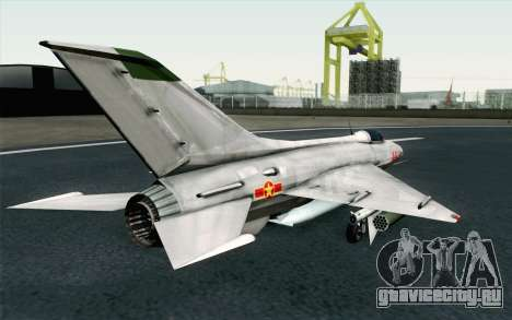 MIG-21 Fishbed C Vietnam Air Force для GTA San Andreas вид слева