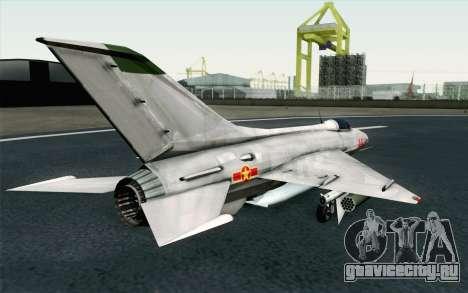MIG-21 Fishbed C Vietnam Air Force для GTA San Andreas вид слева