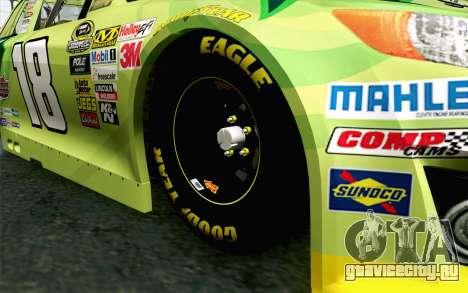 NASCAR Toyota Camry 2013 v4 для GTA San Andreas вид сзади слева