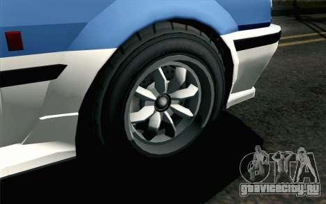 GTA 5 Karin Futo для GTA San Andreas вид сзади слева
