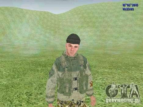 Боец из батальона Зоря для GTA San Andreas третий скриншот