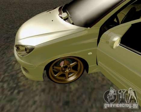 Peugeot 206 Street Racer Tuning для GTA San Andreas вид изнутри