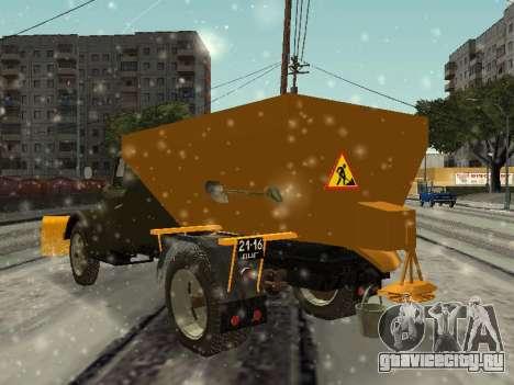 ГАЗ 51 снегоуборочная машина для GTA San Andreas вид сзади слева