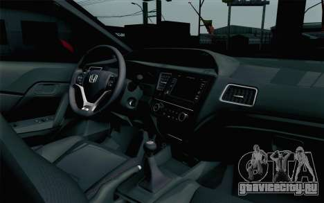 Honda Civic SI 2013 для GTA San Andreas вид справа