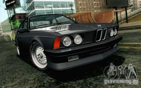 BMW M635CSI E24 1986 V1.0 EU Plate для GTA San Andreas