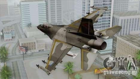 F-16 Scarface Squadron для GTA San Andreas вид слева