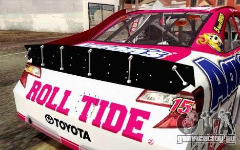 NASCAR Toyota Camry 2012 Plate Track для GTA San Andreas вид сзади