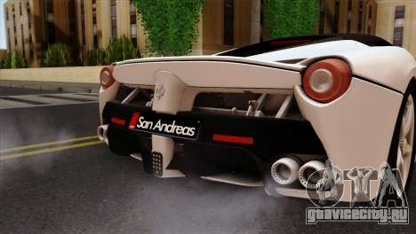 Ferrari LaFerrari 2015 для GTA San Andreas вид сзади