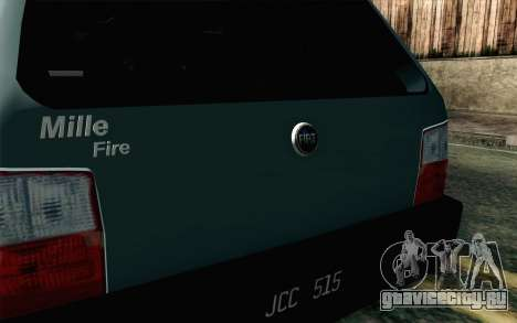 Fiat Uno Fire для GTA San Andreas вид сзади