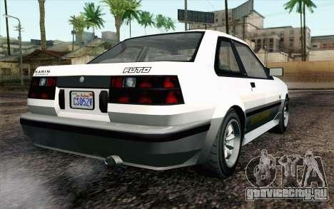 GTA 5 Karin Futo IVF для GTA San Andreas вид слева