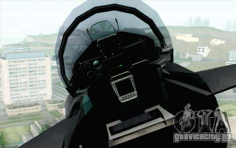 EuroFighter Typhoon 2000 Black Hawk для GTA San Andreas вид сзади