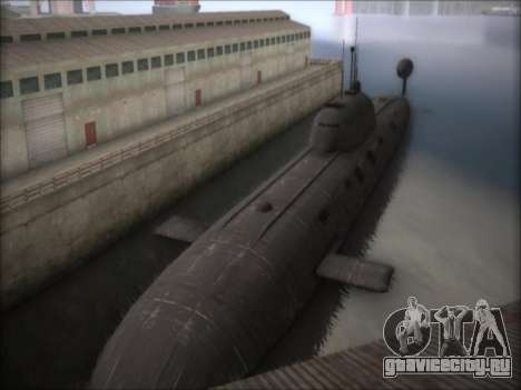 АПЛ проекта 941 Акула для GTA San Andreas второй скриншот