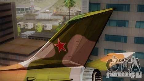 MIG 21 Russian Camo Force для GTA San Andreas вид сзади слева