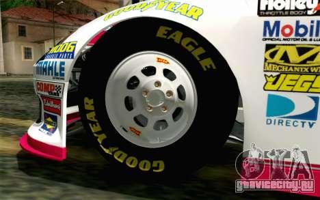 NASCAR Toyota Camry 2012 Plate Track для GTA San Andreas