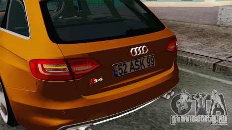 Audi S4 Avant 2013 для GTA San Andreas вид справа