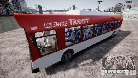 GTA 5 Bus v2 для GTA 4 вид снизу
