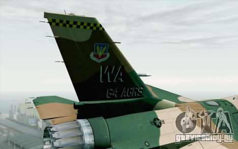 F-16C Fighting Falcon Aggressor 272 для GTA San Andreas