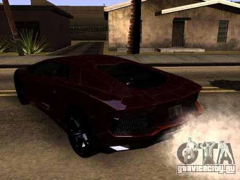 Lamborghini Aventador Tron для GTA San Andreas вид сзади слева