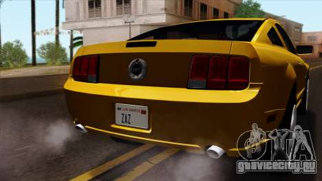 Ford Mustang GT Wheels 1 для GTA San Andreas вид сзади