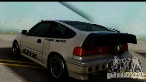 Honda CRX Dragster для GTA San Andreas вид слева