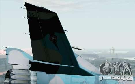 F-16C Fighting Falcon NSAWC Blue для GTA San Andreas вид сзади слева