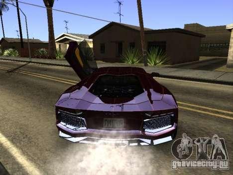 Lamborghini Aventador Tron для GTA San Andreas вид справа