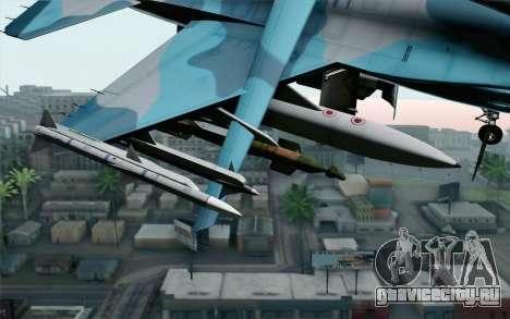 F-16C Fighting Falcon NSAWC Blue для GTA San Andreas вид справа