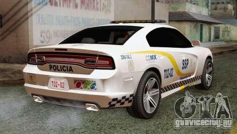 Dodge Charger SXT Premium 2014 для GTA San Andreas вид слева
