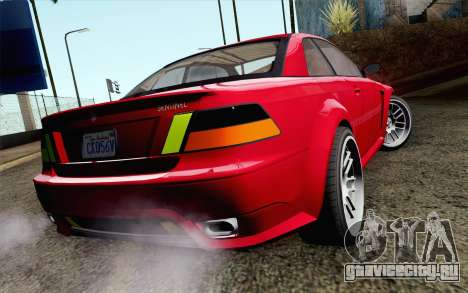 GTA 5 Ubermacht Sentinel Coupe IVF для GTA San Andreas вид слева