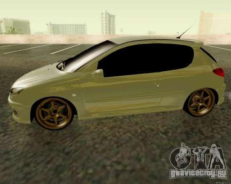 Peugeot 206 Street Racer Tuning для GTA San Andreas вид слева