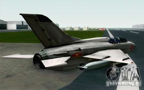 MIG-21UM Vietnam Air Force для GTA San Andreas вид слева