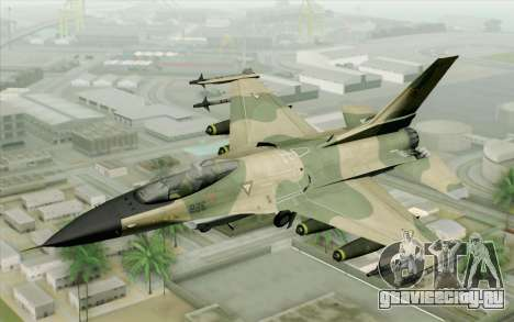 F-16 Fighter-Bomber Green-Brown Camo для GTA San Andreas