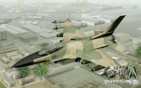 F-16 Fighter-Bomber Green-Brown Camo для GTA San Andreas