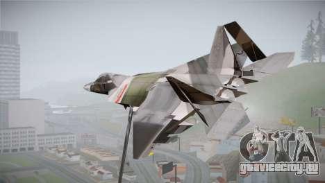 F-15 JASDF 50th Anniversary для GTA San Andreas вид слева
