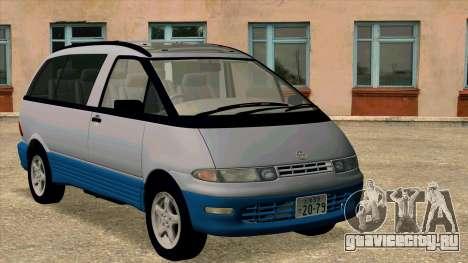 Toyota Estima Lucida 1990 для GTA San Andreas вид слева