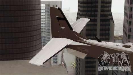 Embraer A-29B Super Tucano Low Visibility для GTA San Andreas вид сзади слева