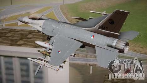 F-16 Fighting Falcon RNLAF Solo Display J-142 для GTA San Andreas вид слева