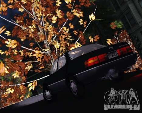 Toyota Celsior для GTA San Andreas вид сзади